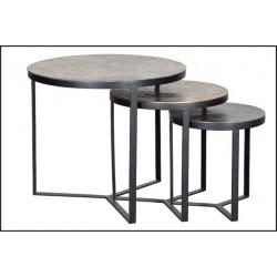 Set de 3 mesas auxiliares ref: megc37