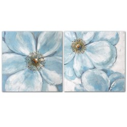 Cuadro flores azules ref: cuaz